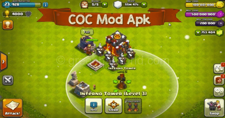 clash of clans mod apk no private server